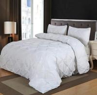 Atacado conjuntos de cama em casa plissado têxteis gêmeo rainha dupla tamanho de cama de roupa de cama de edredão conjunto de preços de fábrica especialista em especial qualidade Último estilo original