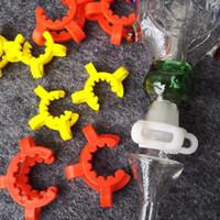 Moins cher! 10mm 14mm 19mm joint taille plastique K Clip couleur plastique Keck laboratoire laboratoire pince pince