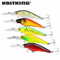 Kastking Fishing Tackle 3D Occhi Minnow Fishing Lure 5 Pz / lotto Fishing Bait 90Mm 7G Crankbait Fish Baiting Lure 2017 Nuovo Super Prezzo