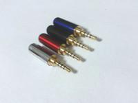 40 stks koper 2.5mm audio 4-polige mannelijke reparatie oortelefoons plug soldeeradapter