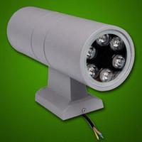 Toptan fiyat 6 W / 12 W / 18 W / 24/36 W LED duvar lambası çift yan yukarı ve aşağı duvar ışık açık su geçirmez sundurma ışıkları AC85-265V