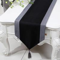 Extra lang 120 inch patchwork rustieke tafel runner chinese stijl katoen linnen moderne theetafel doek eettafel beschermende mats 300x33 cm