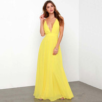 2016 Spaghetti Strap Chiffon Dress Backless Sexy Boho Beach ...