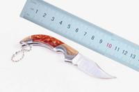 Atacado China Marca Lobo Pequena dobra da faca da faca 5Cr13Mov 56HRC Acabamento cetim lâmina Chaveiro facas EDC facas de bolso pacote de plástico