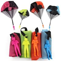 Kids Hand Throwing mini parachute toys with soldier Outdoor ...