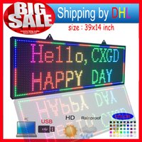 Outdoor P10 SMD LED signs  Support computer USB programmable...