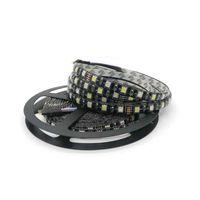 Edison2011 alta calidad 5050 negro PCB RGBW LED tira IP65 impermeable RGB + Whit DC 12V 300 Leds 60 Leds / M DHL libre