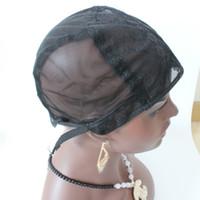 5 pz / lotto berretto parrucca per fare parrucche con cinturino regolabile sul retro tessitura cappuccio taglia s / m / l glueless parrucca tappi di buona qualità spedizione gratuita