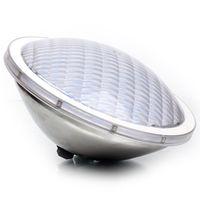 2PCS 25W AC / DC 12V IP68 للماء LED حمام سباحة ضوء RGB الفولاذ المقاوم للصدأ عالية الطاقة تحت الماء LED Par56 بقعة مصباح
