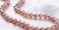 beaded necklaces womenu0027s gift wholesale liang li 910mm natural rare gold pink purple multicolor pearl necklace 18 inch