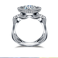 Victoira Wiecku Luksusowa Biżuteria 14kt Biały Złoto Wypełnione Unikalne Desgin Topaz Symulowany Diamentowe Gemstones Mężczyźni Wedding Men Pierścień Pierścień Rozmiar 7-13