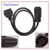 Topcartool OBDDIY ICOM 10 Pin Stecker OBD2 Kabel für BMW Auto Diagnosestecker ICOM 10Pin zu 16Pin OBD2 Adapter für BMW ICOM