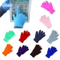 New DHL Freeshipping Knit Wool Touch Gloves for iPhone Touch...