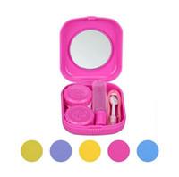 Новый пластиковый портативный мини-чехол для контактных линз Открытый путешествия Держатель контактных линз Контейнер с зеркалом Easy Carry For Eyes Care