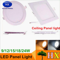 20% OFF- Ultrathin Square Round 9W 12W 15W 18W Dimmable LED P...