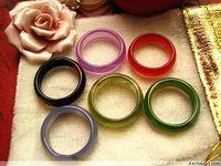 all'ingrosso bulk lotti 100pcs colori misti qualità agata naturale bella donna gioielli anelli di moda nuovo di zecca
