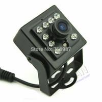 SONY CCD 700TVL Night Vision Mini Câmera IR 1/3 '' Sony Ccd Segurança CCTV Mini Câmera IR CCD com 10 Pcs IR 850nm Infravermelho 0.1LU