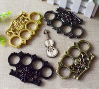 Gold black Hell detective Constantine Steel Brass knuckle du...