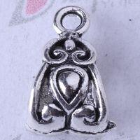 DIY Retro Silver/bronze Cap Beads Pendant Fit Bracelets or Necklace Charms alloy Jewelry 350pcs/lot 3372z