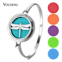 Aromatherapy Locket Bracelet 316L Stainless Steel Bangle 30m...