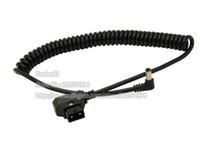 D-Tap-Stecker auf 5,5x2.5mm abgewinkeltes DC-Stretchfederkabel für DSLR-Rig-Leistung V-Mount Anton-Akku, BMCC-Kabel / Freies Verschiffen / 1 stücke