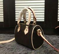 클래식 탑 토트 여성 가죽 스트랩 스피디 핸드백 정품 지갑 가방 CX # 7 지갑 미니 품질 16cm 베개 브랜드 어깨 LMAUD