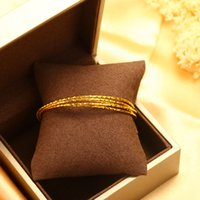 24K Gold Filled Bangles Top Quality Fine Jewelry For Women M...