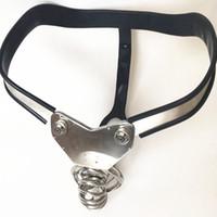 جديد حزام العفة الفولاذ المقاوم للصدأ ذكر الديك جوفاء قفص يرتدي السراويل العفة جهاز للذكور G7-4-29