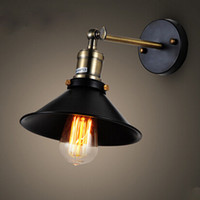 American vintage lampe murale éclairage intérieur lampes de chevet appliques murales pour la maison 110V / 220V E27 Livraison gratuite