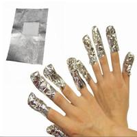 100 Pçs / set Nail Foil Arte UV Gel Polonês Removedor Wraps Fácil Removedor de limpeza Wraps Ferramentas de Limpeza Do Prego #