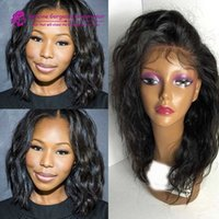 Brazilian Human Hair water wavy Lace Front Wig Glueless Full...