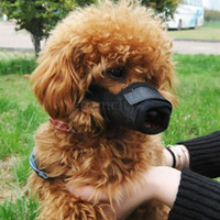 5 colori regolabile Nylon Dog Muzzle Pet Puppy Mesh Mouth Mask Anti Biting Barking S-XL Taglie
