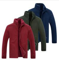 NUEVA Ropa de Hombre Para Hombre Softshell Fleece Chaquetas Casuales Hombres Sudadera Cálida Abrigos Térmicos Ropa Sólida Engrosada