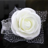 Real image Cheap pink bride bridesmaid wrist flowers, cheap ...