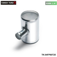 "Tansky - Universal BOV T-Pipe 60mm 2.36 ""Uitlaat 25mm Blaque-afsluiter T Joint Adapter TK-04FP60T25"