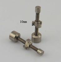 На складе 10 мм 14 мм 18 мм регулируемая Титана ногтей Gr2 подходит 10 14 18 мм для воска, масло взаимозаменяемые Ti ногтей против Титана карбюратора крышки