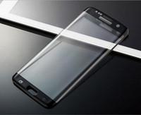 Samsung s6 temperli film 3D yüzey için tam ekran kapsama ipek ekran cep telefonu filmi s6 kenar temperli cam filmi