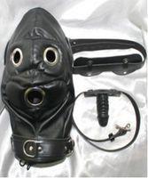 Le cuir mou de PVC bondage bondage de masque de capot d'esclave avec le godemiché de bouche de pénis de godemichets de silicone dans des jeux de sexe de fétiche de sexe adulte pour les femmes