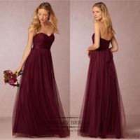 Strapless Tulle Bridesmaid Dress Girl' s Long Dress For ...