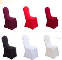 100pcs por cubiertas de la silla de la boda mucho Blanca Universal negro Poliéster Spandex para bodas banquetes plegable decoración del hotel decoración