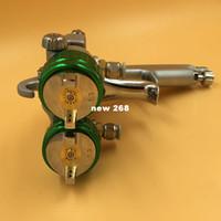 Freeshipping Nano-versprühte doppelköpfige Sprühpistole-Farbpistolen Automotive Doppel-Düsen-Spritzpistole Polyurethan-Spray-Schaumstoffpistole