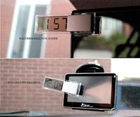 100 STÜCKE Neue Mehrzweckauto LCD Digitaluhren Thermometer Combo Auto Sucker Digitale Elektronische Uhr Auto Thermometer
