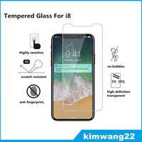 Pour iPhone 8 Protecteur d'écran en verre trempé Pour Iphone8 Iphone X Edition Film 2.5D 9H Paquet de papier anti-éclatement