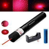 303 2в1 красная лазерная указка Pen 5mw 650м Мощный звезда шаблон горения Красный Lazer Beam Light + 18650 + зарядное устройство