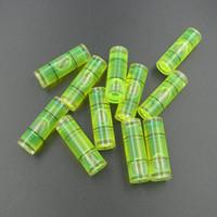 Haccury (25 قطعة / الكثير) 10 * 30 ملم أجزاء أنبوب مستوى فقاعة فقاعة مستوى البلاستيك