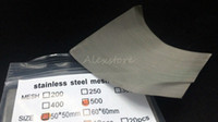 Filet de nickel Filet de nickel Filament de fumée en acier inoxydable 316L Filet de fumée 200 250 300 400 500 maille 50 * 50MM 10pcs / sac DIY RDA