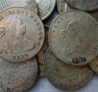 الولايات المتحدة رايات تمثال نصفي الدولار 11 قطع (1794-1804) عملات نسخ هجر الفاظ قديم تبحث لنا عملات النحاس الحرف عملات / بيع كامل شحن مجاني