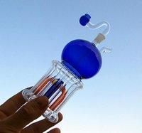 Günstige glasrohr Neueste ankunft Glas Jet Perc Schwere Blaue Kobold Glas Bong baum wasserleitung öl rig