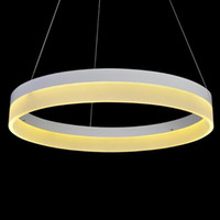 LED Pendant Ring Lights White Acrylic LED Suspension Hanging...