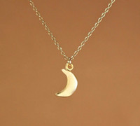 10 шт.-18 К позолоченные ожерелье просто мода сексуальная маленькая луна кулон ожерелье подарок для женщин оптом бесплатная доставка